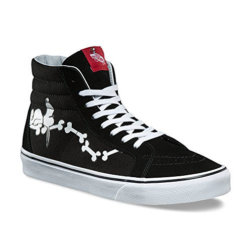 12x12 Bone (Vans x Peanuts Sk8 Hi Reissue Snoopy Bones Shoes 12 D(M) US Black)