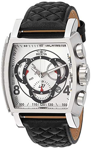 Invicta Men's S1 Rally Stainless Steel Quartz Watch with Leather-Synthetic Strap, Black, 26 (Model: 27918) from Invicta