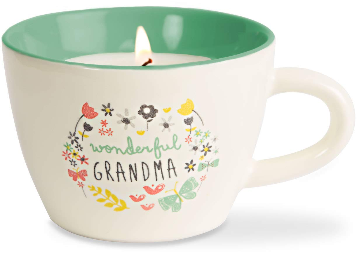 Pavilion Gift Company 74091 Bloom by Amylee Weeks - Grandma Ceramic Cup Candle