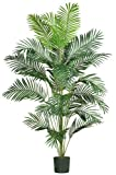 Nearly Natural 5261 Paradise Artificial Palm Tree, 7-Feet, Green