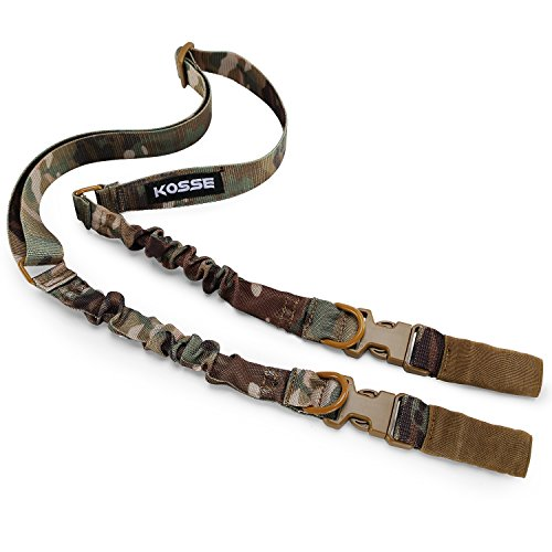 Kosse Two Point Rifle Gun Sling, Premium Nylon Adjustable 2 Point Rifle Sling for Hunting, Shooting and Outdoors (Camo) ()