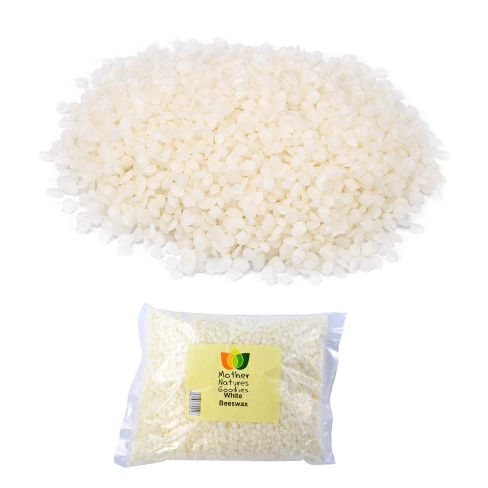 200g/7oz Food Grade Natural White Beeswax Pellets Cosmetics Materials for Handmade Lipstick,Soap Walfront