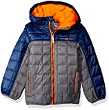 ZeroXposur Boys' Little Bluster Quilted Transitonal Jacket, Iron, Large