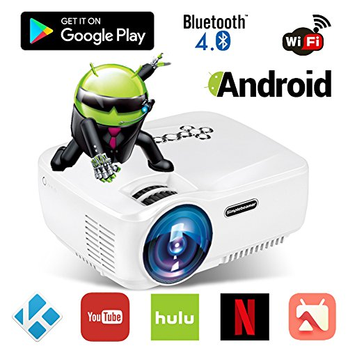 Android WiFi Bluetooth Projector ( Included), ERISAN Mult...