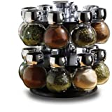 Highlands 16PC Glass and Metal Coated Storage Jars in Assorted Sizes