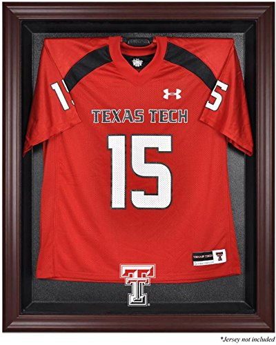 Texas Tech Red Raiders Mahogany Framed Logo Jersey Display Case by Sports Memorabilia
