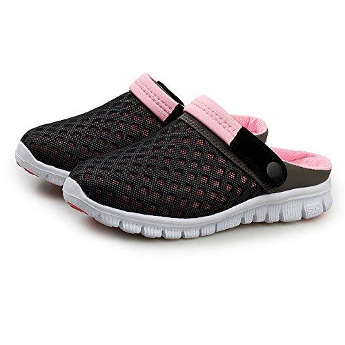 Vnfire Men Women Unisex Non Slip Breathable Mesh Net Slippers Beach Sandals Sports Leisure Casual Shoes Summer Sneakers Black Blue Size Us 7