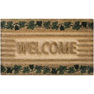 Palma de Private Limited PLM 16540 Felpudo, marfil Fibra de coco Welcome, 18 x 30-in.