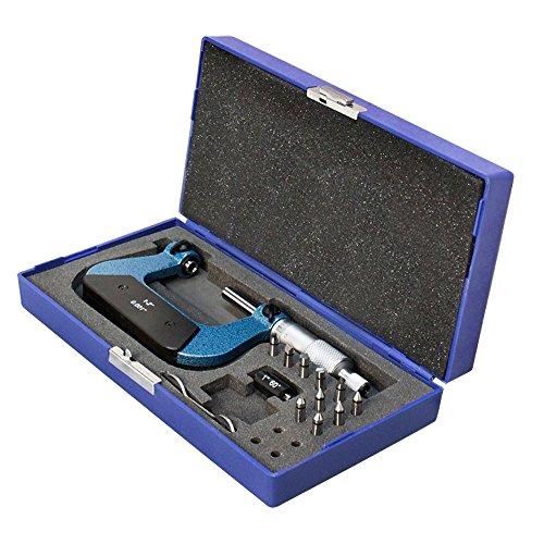 1-2'' Screw Thread Micrometer Kit 5 Anvils 0.001'' Graduation - Micrometer Kit