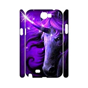 Unicorn Personalized 3D Case for Samsung Galaxy Note 2 N7100, 3D Customized Unicorn Case
