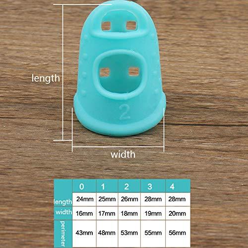 Yichener 5 Unidades, Transpirables Dedales de Silicona multifuncionales para Dedos Accesorios de Costura