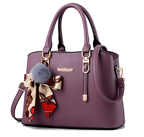Leather Crossbody Women Top Shoulder For Handle Purse Purple Handbags Satchel Nodykka Bags Tote xvt8f