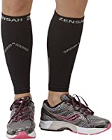 Zensah Reflective Compression Leg Sleeves - Best Night Running Gear - Relieve Shin Splints - Calf Sleeves for Running - Improve Visibility