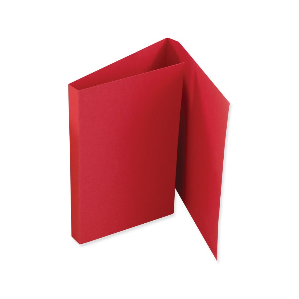 PDC Healthcare F3BR File Folder Double Fold for Prescriptions Cardboard, 5-1/2'' x 13'' Red (Pack of 100)