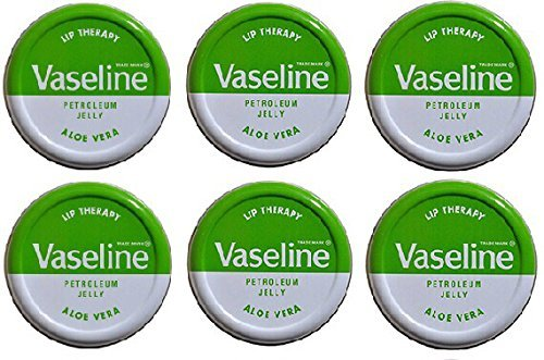 Lip Therapy Aloe (Vaseline Lip Balm 20g/0.705oz (6X20g/0.705oz, Aloe Vera))
