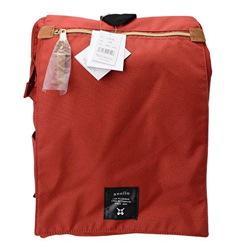 Official Anello Fashion Japan Travel Rucksack Dark Bag Cover AT Large Flap Orange B1224 Backpack Shoulder BFxwFqZA