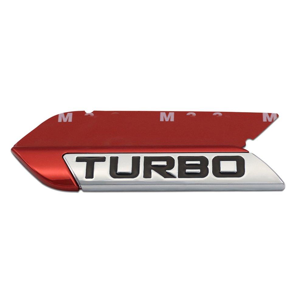 DSYCAR Adhesivos con emblema, en 3D, turboalimentados, con el texto en inglés