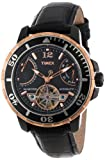 black dial wind up watch for men