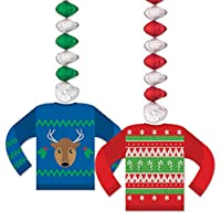 """Beistle Ugly Sweater Danglers, 30 """", Multicolor"""