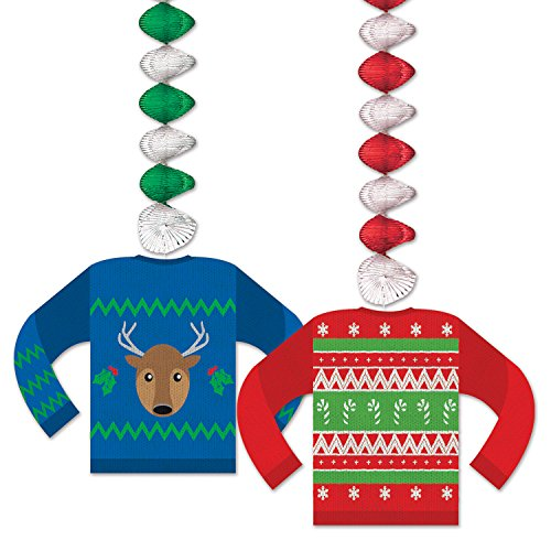 (Beistle Ugly Sweater Danglers, 30