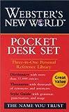 Webster's New World Pocket Desk Set, Staff of Webster's New World Dictionary, 0764582135