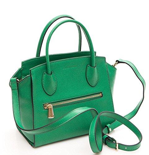 Coccinelle Borsa Donna Mini Bag Pelle Saffiano verde