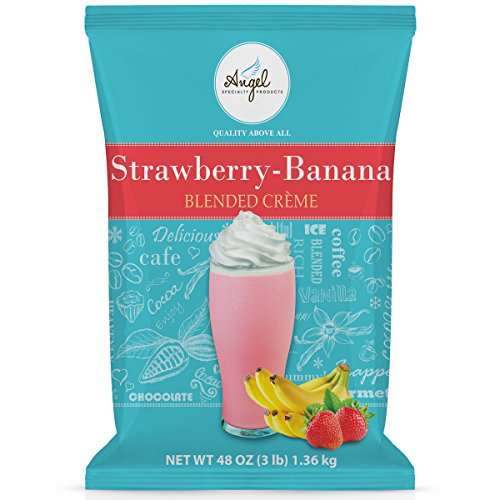Angel Specialty Products, Blended Smoothie, 3-Pound Bag Instant Frappe Powder Mix, Strawberry Banana [3 LB] [34 Servings]
