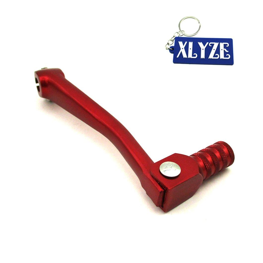 XLYZE CNC Aluminum Folding Gear Shifter Lever Red for Chinese 50cc 110cc 125cc 140cc 150cc 160cc Pit Dirt Bike XR50 CRF50 CRF70 SSR Thumpstar