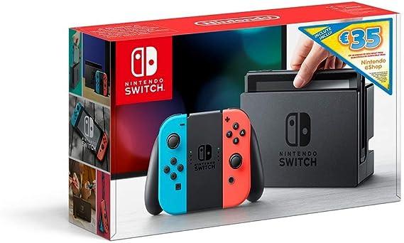 Nintendo Switch - Consola (Estándar) - Azul Neón/Rojo Neón+ Bono 35€ eShop (Código de descarga): Nintendo: Amazon.es: Videojuegos