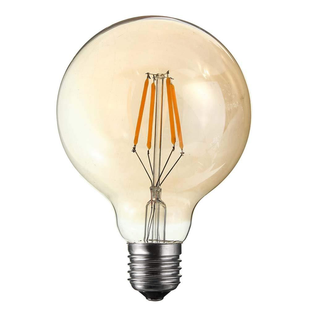 AC 220/V G95/4/W Bernstein dimmbar Dimmbar 4/W G95/LED Filament Globe Gl/ühbirne E27/LED Gl/ühlampe mit gespritztem Gold Antik Glas warm 2200/K 30/W Gl/ühlampe Ersatz