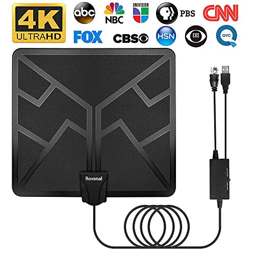 HDTV Antenna - 2020 Upgraded 130 Miles Digital HD Indoor TV Antenna Amplified High Definition Digital TV Antennas Amplified Signal Booster Support 4K 1080P UHF VHF Channels