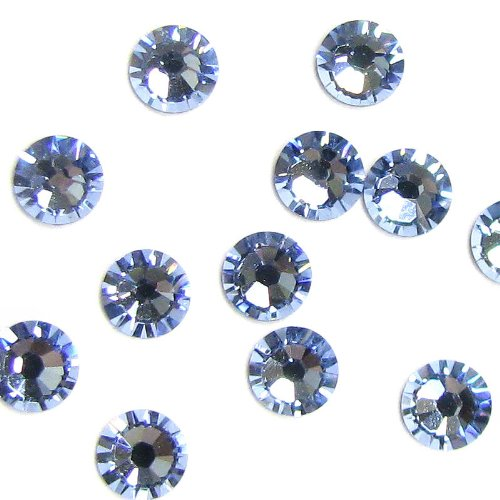 72 pcs Swarovski Crystal 2058 Xilion Flatback No Hotfix Light Sapphire Foiled Rhinestone SS16 / Findings / Crystallized Element