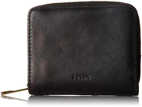 Fossil Women's Emma Rfid Mini Multifunction Wallet, Black, One Size