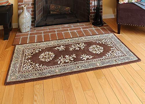 Minuteman International Coffee Oriental Wool Hearth Rug, Rectangular (Oriental Wool Rugs)