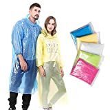 Emergency Disposable Rain Poncho for Adults (5 Pack) Review and Comparison