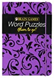 img - for Brain Games Glam to Go! Word Puzzles (purple cover) book / textbook / text book