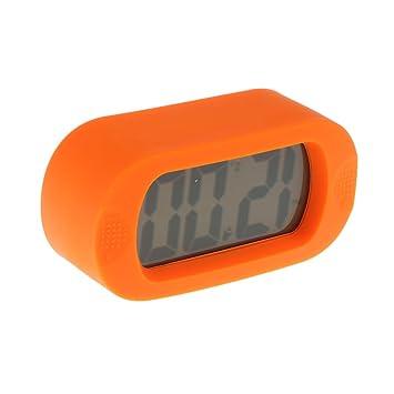 Homyl 1 pieza de Alarma Reloj Despertador LCD de Silicona ...