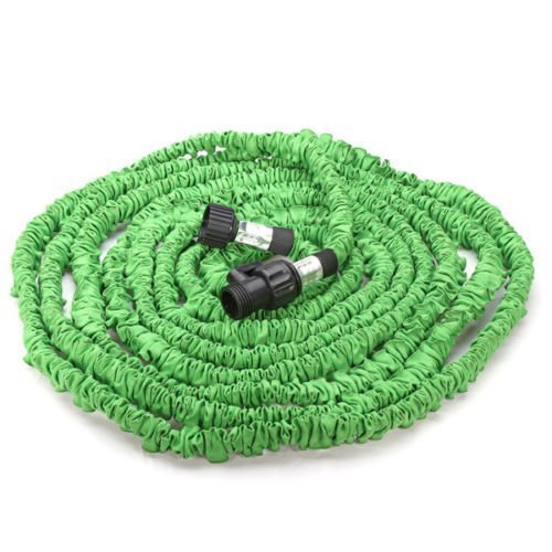 Garden Hose, FlatLED Expandable water hose, Collapsible Flexible Expanding Retractable Without Spray Nozzle Green (75ft)