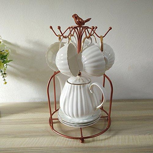 TY&WJ Mug holder Metal Hooks Coffee mug tree The dishes Glass pitcher Drying rack stand [household] Kitchen [restaurant] Senior Multifunction Mug holders-A by TY&WJ