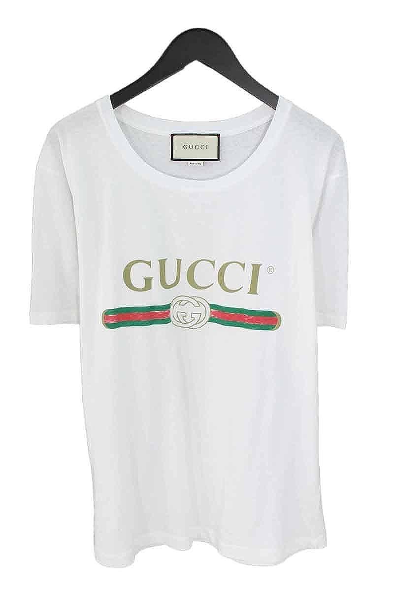 (グッチ) GUCCI 【17SS】ヴィンテージオールドロゴTシャツ(M/ホワイト) 中古 B07DTB38YL