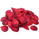 S/o 500 pétales de roses rose bordauxe fleurs artificielles feuillage seidenblumen (0177)