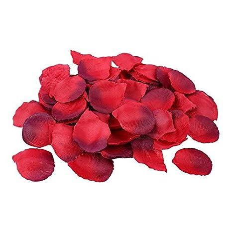 Schramm® 500er Pack Rosenblätter Rosenblüten Bordeaux Rosen Blätter Blüten Kunstblumen Seidenblumen