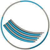 Mike Sport Weighted Hula Hoop 3lb for Adults for Exercise, Fitness, Fat Burning, and Lose Weight (Blue&Gray)