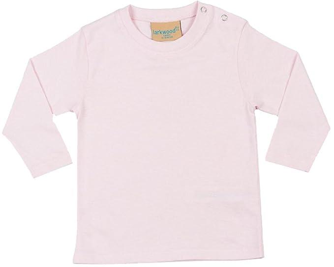 Larkwood Kleinkinder langärmliges T-Shirt Kinder Rundhals Einfach Farbig  Freizeit Top - Hellrosa, 18