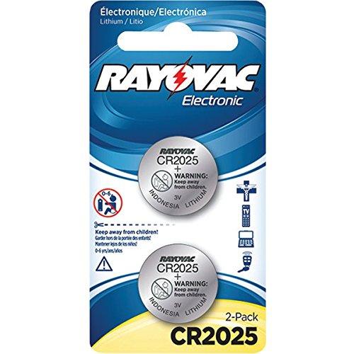 RAYOVAC KECR2025-2A 3-Volt Lithium Keyless Entry Batteries, 2 pk (CR2025 Size)