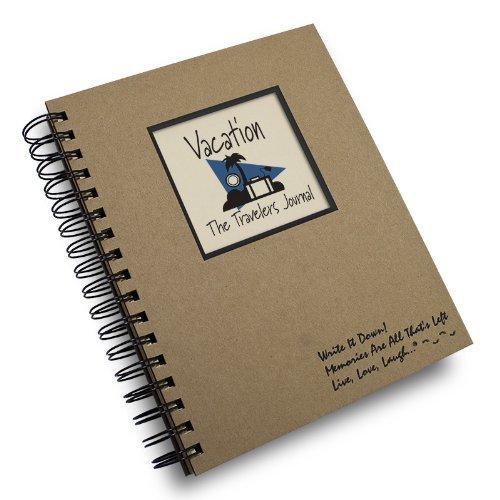 Vacation, The Traveler's Journal - Kraft Hard Cover (prompts on every page, recycled paper) by Journals Unlimited