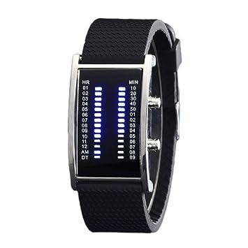 QIANGYUE Relojes Digitales binarios, Relojes de la Mujer de los Hombres de los Deportes al