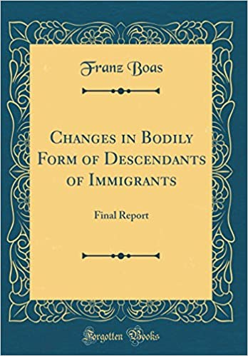 Buy Changes in Bodily Form of Descendants of Immigrants