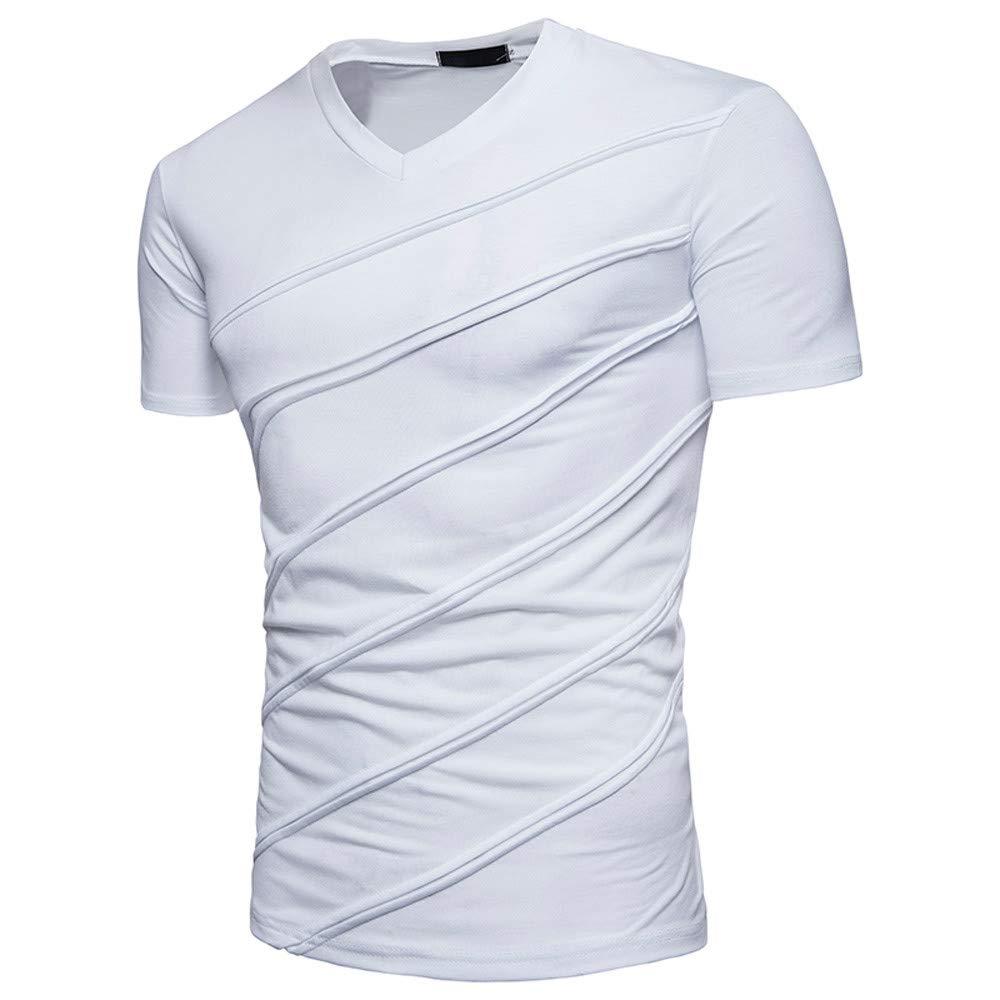 Bestow Camiseta de Verano Slim Slim de Color sólido para Hombre Blusa de Verano para Hombre: Amazon.es: Ropa y accesorios