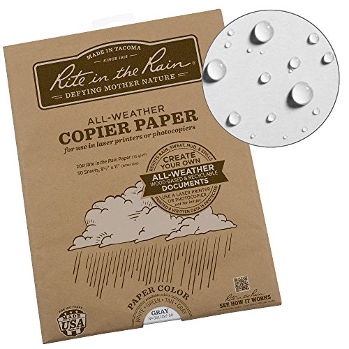 Rite in the Rain Weatherproof Laser Printer Paper, 8 1/2
